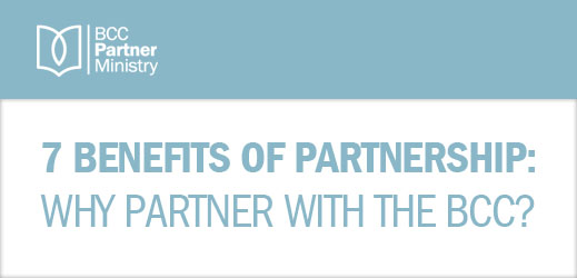 7 Benefits of Partnership--Why Partner with the BCC